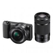 Sony Alpha A5100 negru + SEL16-50mm + SEL55-210mm - mirrorless cu WiFi si NFC