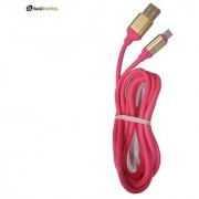 Basitronics QT Micro USB Charging and Data cable 110 Centimeters Pink