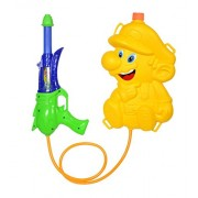 Baal Holi Water Gun with Pressure with Back Holding Tank Holi Pichkari for Girls and Women K-015, 70 Gram, Multi Colored, Pack of 1