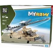 Joc constructie, My Army, Elicopter militar, 97 piese Blocki