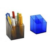 SUPORT INSTRUMENTE SCRIS ICO Quadrate albastru 4 compartimente Plastic Suport instrumente de scris