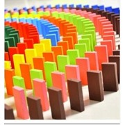 Magical Imaginary Standard Game Dominoes Adult Large 12 Color 120 Pieces of Children Early Education Wooden Educational Toys