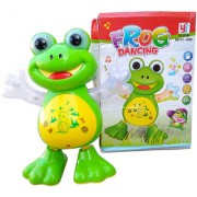 OH BABY 3D LIGHT FROG AND MUSICAL POWER WITH AUTOMATIC SENSOR GREEN COLOR DANCING FROG FOR YOUR KIDS SE-ET-08