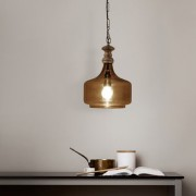 The Light Store Glass Dawnelle Fusion Pendant Light (Brown 60 Watt)