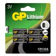 Lithiumbatteri GP Lithium CR 123A - 4-pack
