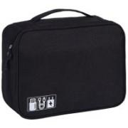 ShivExim travel digital accessories storage bag portable USB cable case(Black)