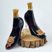Sticla de vin in forma de pantof