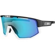 BLIZ FUSION Matt black w White jawbone Smoke w Blue multi