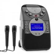 Auna ScreenStar Equipo de karaoke Cámara CD USB SD MP3 incl. 2 x micrófonos negro (KS1-539black)