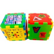 Toykart Educational All in ONE Blocks Set - Multi-Skill: Colors, Counting, ABC, Maths, Clock, Blocks, Puzzle and Much More - Set of 2