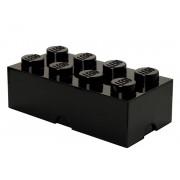 40041733 Cutie depozitare LEGO 2x4 negru