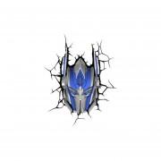 Lampara Decorativa Pared 3D Light Optimus Prime Transformers Autobots-Azul