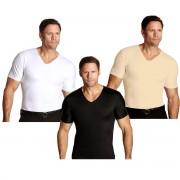 Insta Slim V-Neck Firming Compression Slimming Under Shirt Nude L