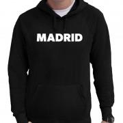 Bellatio Decorations Madrid/ wereldstad hoodie zwart heren L - Feesttruien