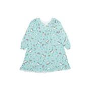 【57%OFF】プリント ラッフルショルダー ナイトドレス ブルー 8 ベビー用品 > 衣服~~ベビー服
