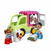 Buildable Lego Duplo Ice Cream Truck with Colorful Pieces and a Child