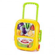 UDee Fruit and vegetable trolley case Vegetables Cutting Play Toy Set