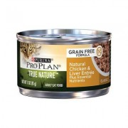 Purina Pro Plan Classic Adult True Nature Grain-Free Natural Chicken & Liver Entree Classic Pate Canned Cat Food, 3-oz, case of 24