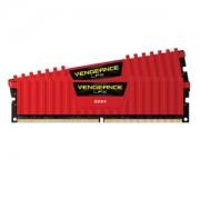 Memorie Corsair Vengeance LPX Red 16GB (2x8GB) DDR4 3000MHz 1.35V CL15 Dual Channel Kit, CMK16GX4M2B3000C15R