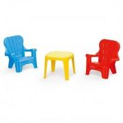 Set de masa Dolu cu 2 scaune, multicolor