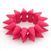 Rózsaszín szegecses karkötő