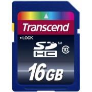 Card de memorie Transcend SDHC, 16GB, Clasa 10, pana la 10 MB/s
