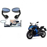 Kunjzone Premium Quality Motorycle Bar End Mirror Rear View Mirror Oval for Suzuki GSX-R1000