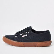 River Island Mens Superga Navy classic gum sole runner trainers (6)