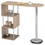 IDIMEX Table haute de bar VIGANDO, décor chêne sonoma