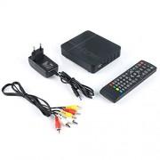 Contiman Receptor de señal de TV Totalmente para DVB-T DVB-T Digital terrestre DVB T2 / H.264 DVB T2 Temporizador Compatible con Dolby AC3 PVR
