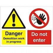Unbranded Warning Sign Demolition PVC 30 x 40 cm