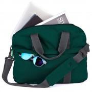 STM Judge Laptop Brief - дизайнерска чанта с дръжки за MacBook и преносими компютри до 15.4 инча (зелен)
