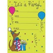 Bikri Kendra - Birthday Invitations Metallic card ( 30 cards ) - Kids Birthday Party Invitations for Boys or Girls - BK/26