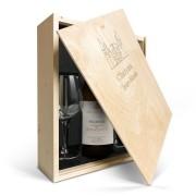 YourSurprise Coffret vin blanc avec 2 verres - Salentein Primus Chardonnay - Couvercle gravé