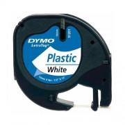 Dymo Letratag DY91201 feliratozószalag 12 mm műanyag fehér