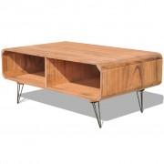 vidaXL Mesa de café/centro em madeira, 90 x 55,5 x 38,5 cm, castanho