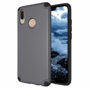 Husa din plastic Light Armor Case Rugged Durable pentru Huawei P20 Lite Gri