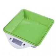 Кухненски кантар Zephyr ZP 1651 LS, дигитален, до 5kg., точност до 1гр, LCD дисплей, aвтоматично изключване, индикатор за претоварване, зелен