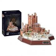 4D Cityscape Rompecabezas 3D Juego de Tronos, Color Rojo