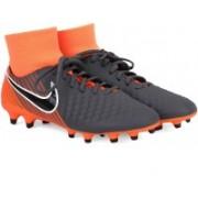 Nike OBRA 2 ACADEMY DF FG Football Shoes For Men(Grey, Orange)