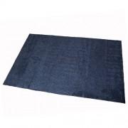 Antracitová bavlněná textilní pratelná vstupní vnitřní čistící rohož Natuflex - délka 100 cm, šířka 150 cm a výška 0,8 cm
