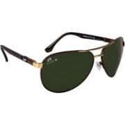 Aislin Aviator, Wrap-around Sunglasses(Green)
