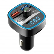 T25s Bluetooth 5.0 FM Transmitter Car Modulator Wireless Handsfree Kit Auto Audio MP3 Player QC3.0 Dual USB Charger