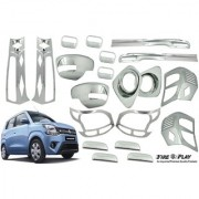 Car Accessories Chrome combo kit for WagonR new by Fireplay. Full Exterior car accessories (long-lasting chrome 20Pcs)