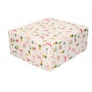 Shoppartners Inpakpapier/cadeaupapier roze flamingos 200 x 70 cm