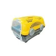 Caixa De Transporte Furacão Pet Luxo Amarelo - Tam. 1
