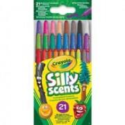 Set 21 Creioane Colorate Retractabile Cu Arome
