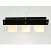 aniba Design Éclairage plafonnier Paris 1 avec différents élements en verre Dimensions: env. L67xB21xH120cm, Noir/ Blanc