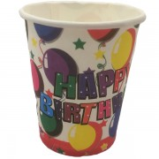 Papír pohár 10 db/cs - happy birthday, lufis