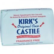 Kirk's Natural Soap Bar - Coco Castile - Fragrance Free - 3 Count - 4 oz
